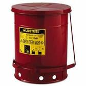 JUSTRITE 10 GALLON OILY WASTE CANW/LEVER