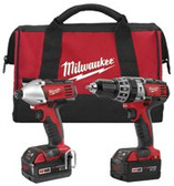 "MILWAUKEE ELECTRIC TOOLS M18 COMBO COMPACT HD/ 1/4"" IMPACT W/ CHARGER/ 2"
