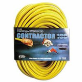 COLEMAN CABLE 100' 12/3 YELLOW EXTENSION CORD W/ LIGHTED END