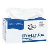 "KIMBERLY-CLARK PROFESSIONAL 11""X10.4"" WHITE WYPALL L30 ECONOMY WIPER 120/BOX"