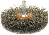 """ANDERSON BRUSH SSM-30 SS 3""""DIA. SINGLE SECTION CRIMPED WIRE"""