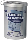 GASOILA CHEMICALS TUB O'TOWELS HAND/HARD SURFACE 90 CT