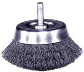 """1-3/4\"""" Crimped Wire Cup Brush, .0118, 1/4\"""" Stem (UC-14)"""