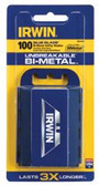 IRWIN UTILITY KNIFE BI-METAL BLADE (100/PK)DISP