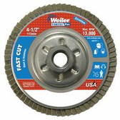 "4-1/2\"" Vortec Pro Abrasive Flap Disc, Angled, Aluminum"