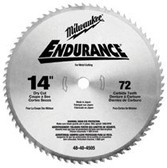"MILWAUKEE ELECTRIC TOOLS 14"" CIRCULAR SAW BLADE DRY CUT 72T"