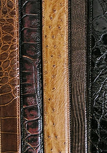 EXOTIC LEATHER BELT STRAPS