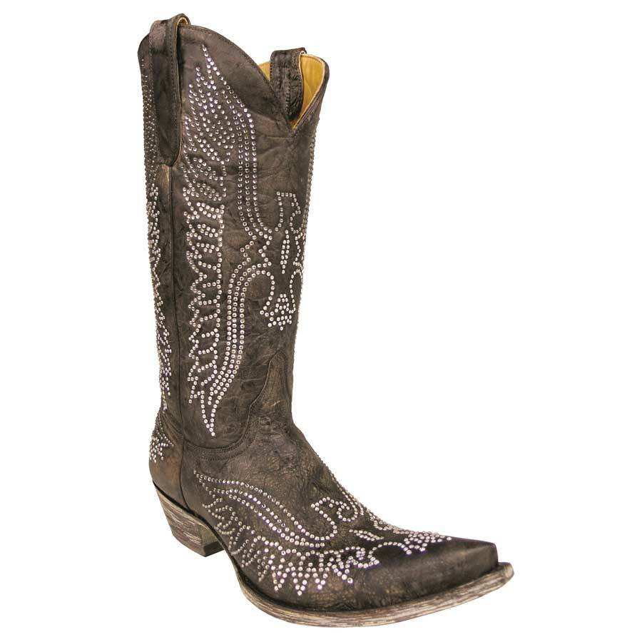 59225ce28d6 Old Gringo Women's Brown Eagle Swarovski Crystal Boots