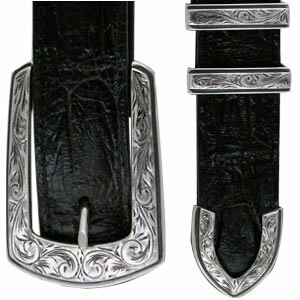 "Horst Schrader - Engraved Elegant 1"" Buckle Set"