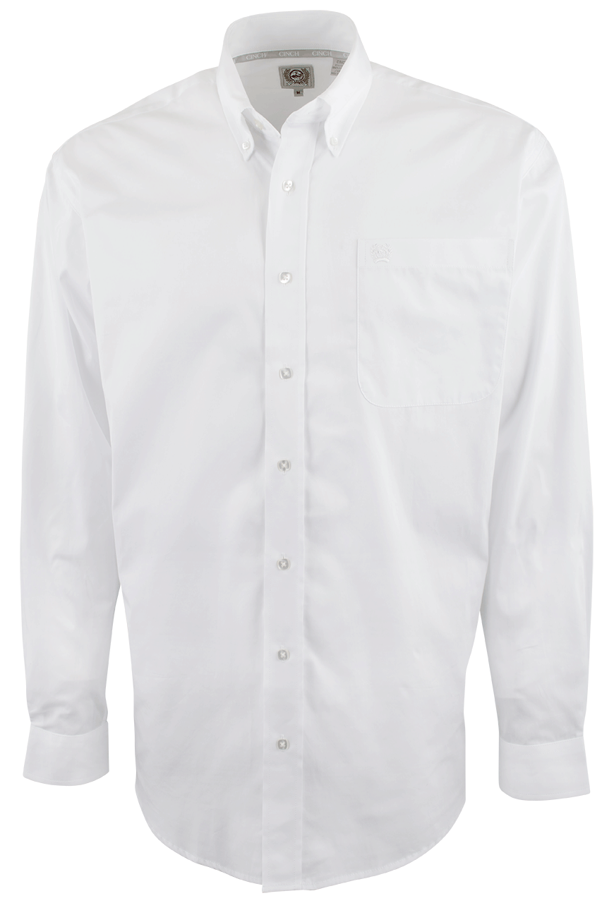 Cinch White Solid Button-Down Shirt - Pinto Ranch