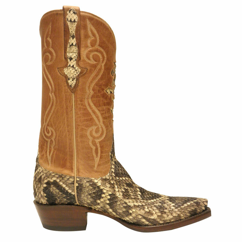 Lucchese Mens Eastern Rattlesnake Boots