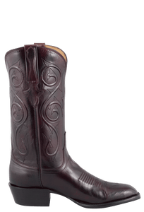 Lucchese Men's Black Cherry Kangaroo Boots - Side