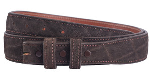 "Elephant 1 1/4-1"" Tapered Belt Strap - Chocolate 1"