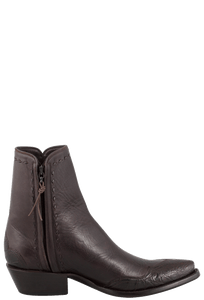 Stallion Men's Zorro Chocolate Crocodile Ankle Boots - Side
