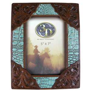 Frame - Faux Croc Frame - Turquoise