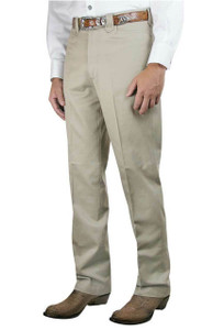 Pinto Ranch Western Plain Front Cotton Pants - Front