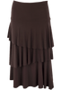 Last Tango Layered Ruffle Skirt - Brown- Back