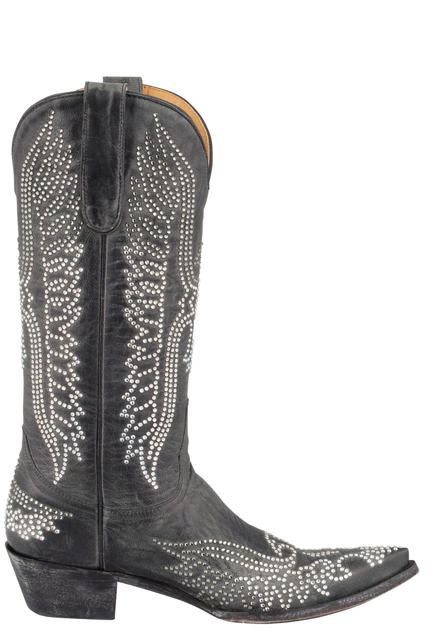 9ff009bd4a9 Old Gringo Women's Black Eagle Swarovski Crystal Boots