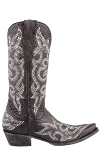 Old Gringo Women's Dark Brown Diego Crystal Boots - Side