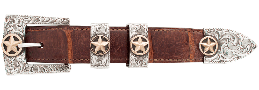 """Pinto Ranch Star Gold 1"""" Buckle Set"""