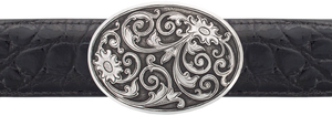 "Silver King Filigree 1 1/2"" Trophy Buckle"