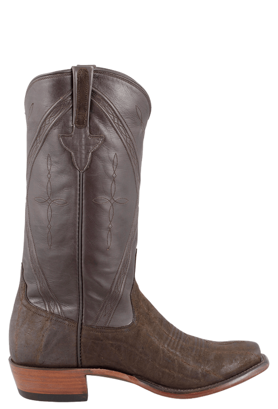 RIOS OF MERCEDES MEN'S CHOCOLATE SUEDED ELEPHANT BOOTS