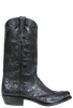 Rios of Mercedes Men's Black Full-Quill Ostrich Boots - Side
