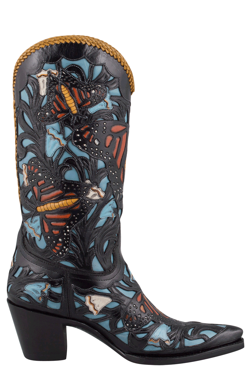 217679107a4 Liberty Boot Co. Women's Monarch Butterfly Boots