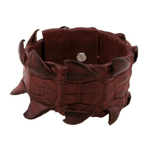 Kulu Crocodile Cuff - Red - Front