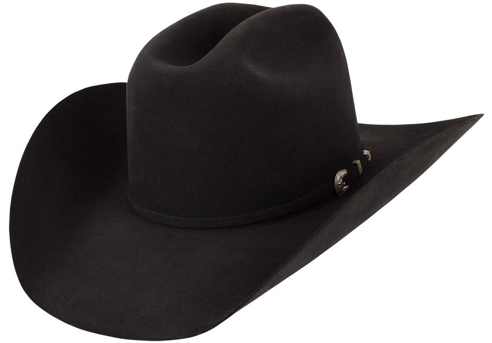 American Hat Co. 500X Pure Beaver Felt Hat - Black - Hero