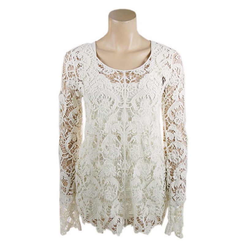 2bcecd0611b Tunic - Crochet Lace Tunic - Cream - Pinto Ranch