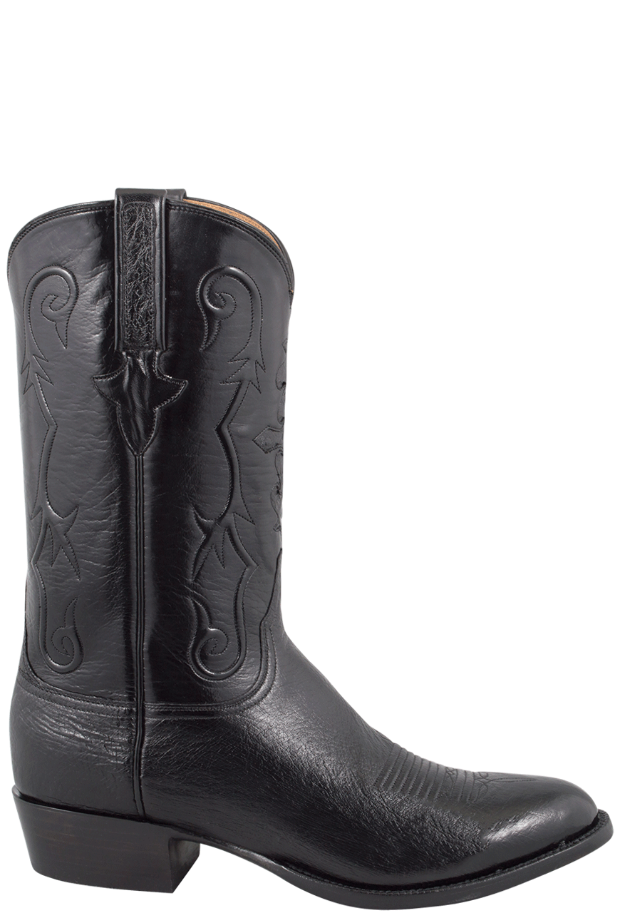 f881db8519c Lucchese Men's Black Smooth Ostrich Boots