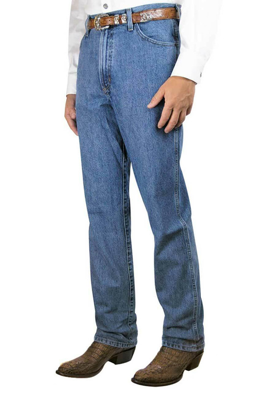 Cinch Green Label Original Fit Medium Stonewash Jeans - Front