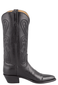 Lucchese Women's Black Ranch Hand Boots - Side
