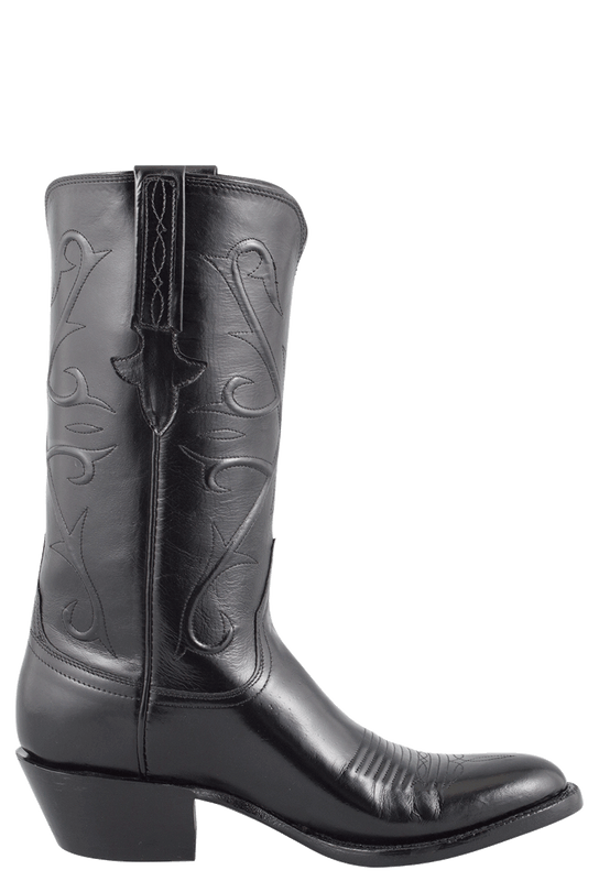 Lucchese Men's Black Kangaroo Boots - Side