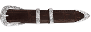 "Greg Jensen Aspen Engraved 1"" Buckle Set"