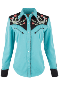 Scully Horseshoe Western Snap Shirt - Front