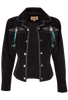 Scully Fawn Fringe Jacket - Black - Hero
