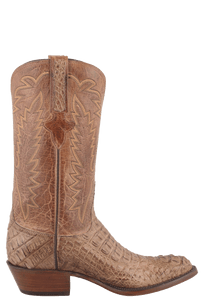 Lucchese Men's Tan Mad Dog Hornback Caiman Boots - Side