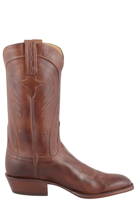 LUCCHESE MEN'S TAN BURNISHED RANCH HAND BOOTS
