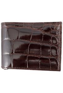 Alligator Classic Wallet - Brown - Front