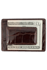 American Alligator Sports Money Clip - Brown - Back