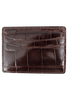American Alligator Sports Money Clip - Brown - Front
