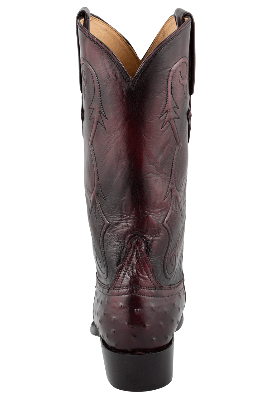 d73309d201b Lucchese Men's Black Cherry Full-Quill Ostrich Boots