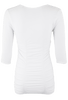 Last Tango Ruched Top - White - Back