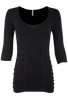 Last Tango Ruched Top - Black - Front