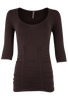 Last Tango Ruched Top XL - Chocolate - Front
