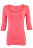 Last Tango Ruched Top XL - Coral - Front