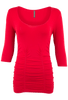 Last Tango Ruched Top XL - Red - Front