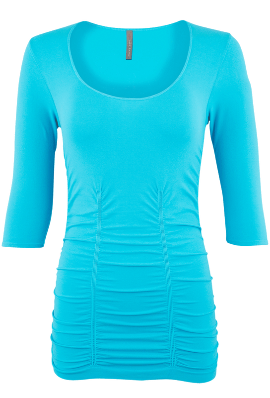 Last Tango Ruched Top XL - Turquoise - Front